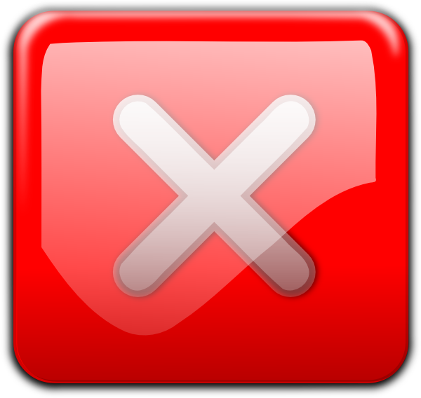 Red X Close Button Png image #30217