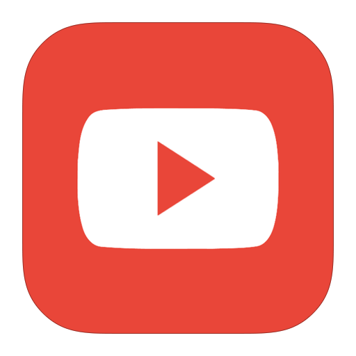 red youtube logo icon