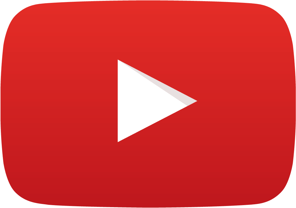Red YouTube play icon