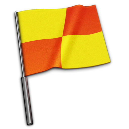 Referee Flag Icon 512x512, Flags HD PNG Download