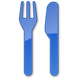 Restaurant Blue Icon