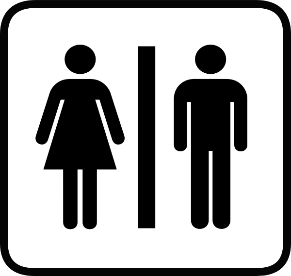 Restroom Black And White Icon Png image #42374