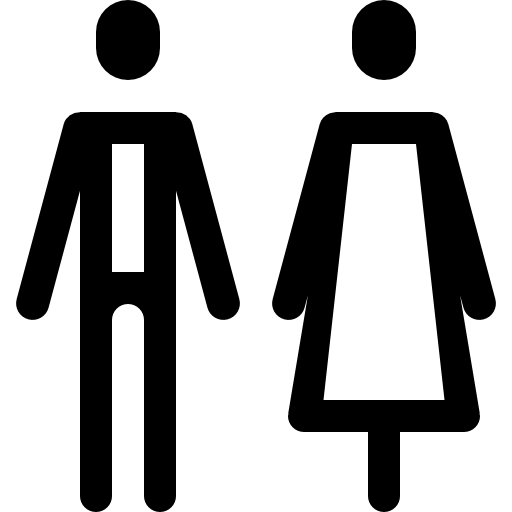 Restroom people icons