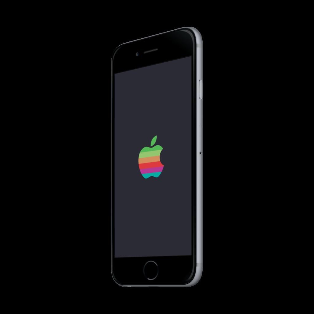 Retro Apple Logo iPhone X