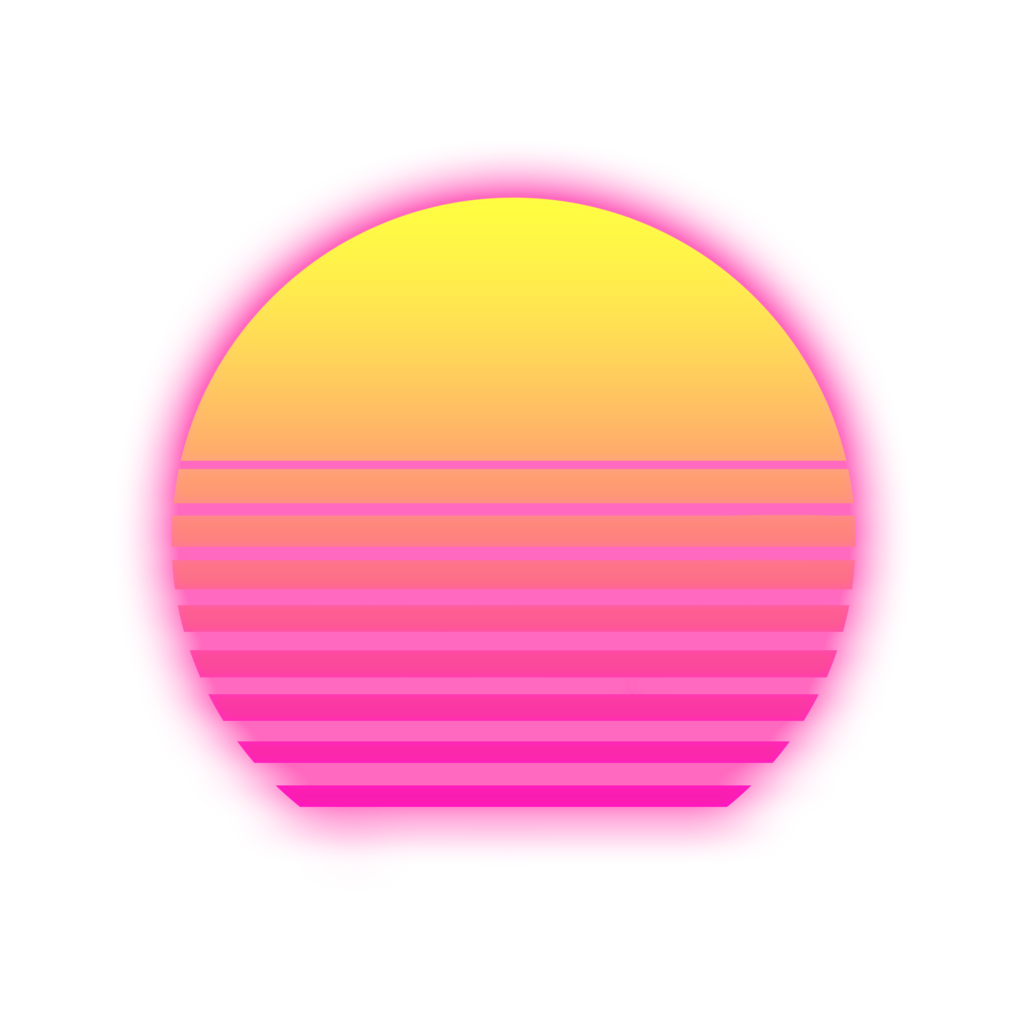 RetroWave Sun With Alpha Background Vaporwave Png image #43645