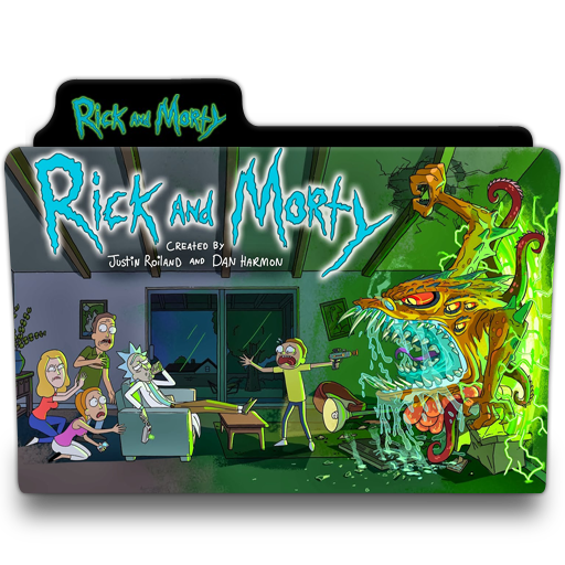 Rick And Morty Abstract Folder Icon image #43804