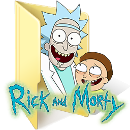 Rick and Morty Beige Folder Icon