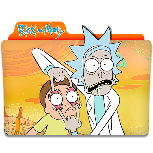 Rick And Morty Orange Folder Icon image #43803