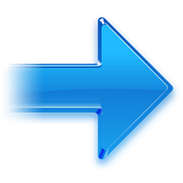 Right Arrow Blue Png image #12454