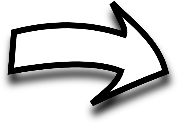 Right Curved White Arrow Png image #41948