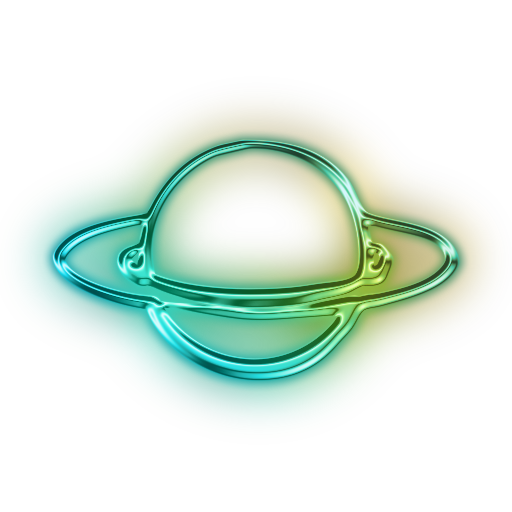 Rings Of Planet Saturn Icon