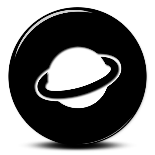 Rings Of Planet Saturn Icon image #7371