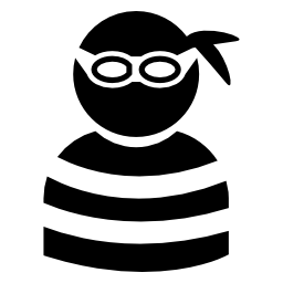 Robber, Crime, Thief Flat Icon image #5022