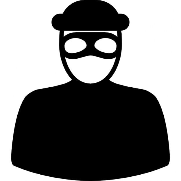 Robber With Eyes Mask Icon image #5026