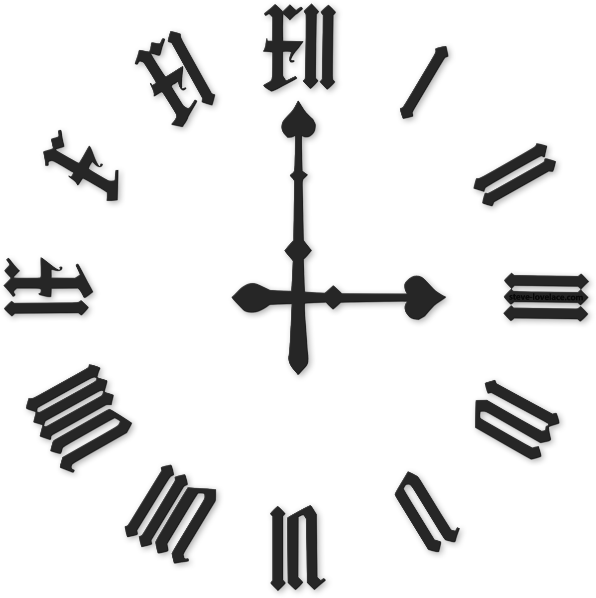 Roman Numeral Clock Png Pic 42140 Free Icons And Png