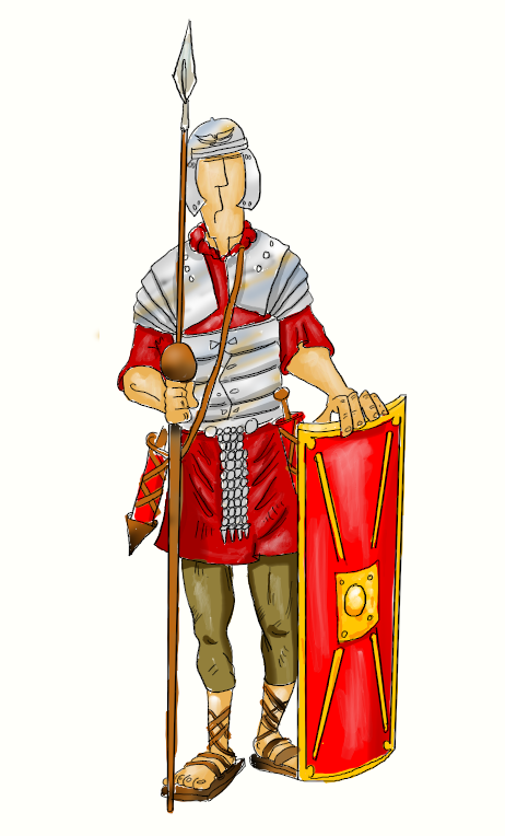 Drawing Roman Soldier Vector image #14629