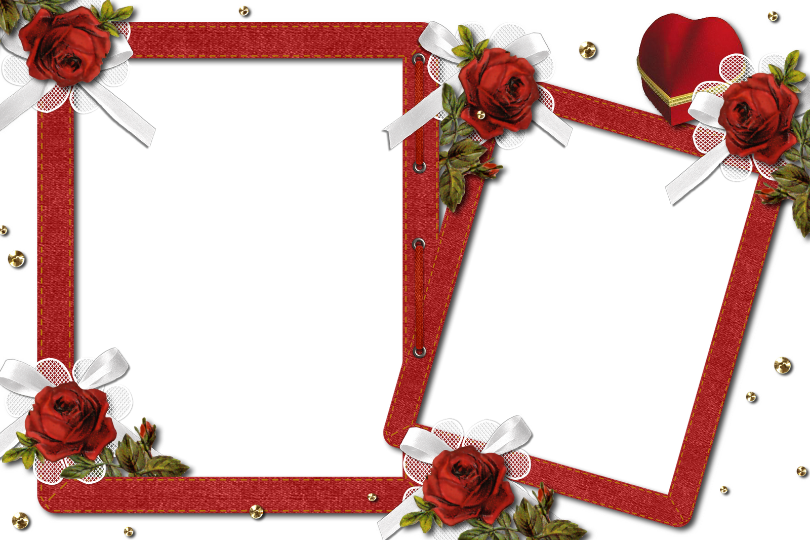 Romantic Floral Photo Frame Png image #27897