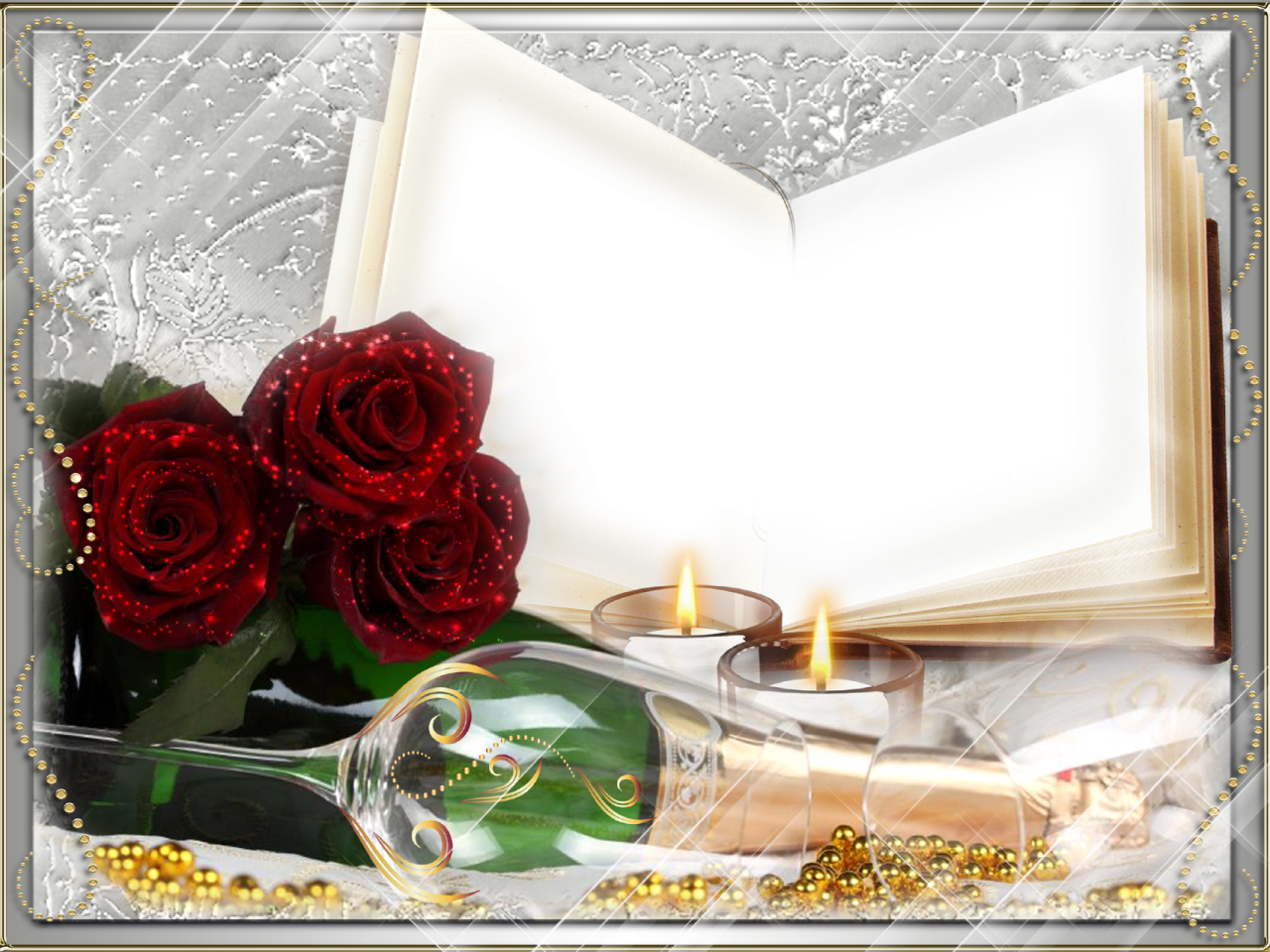 Romantic Love Frame Background Png image #27884