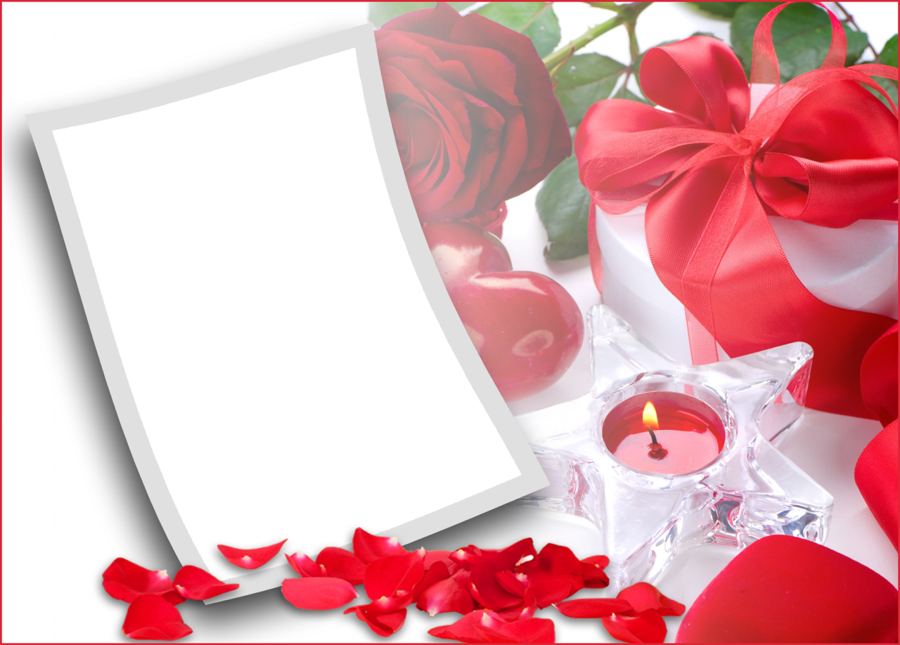 Romantic Love Photo Frame Png image #27890