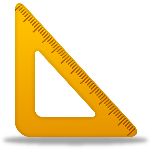 yellow triangle ruler png