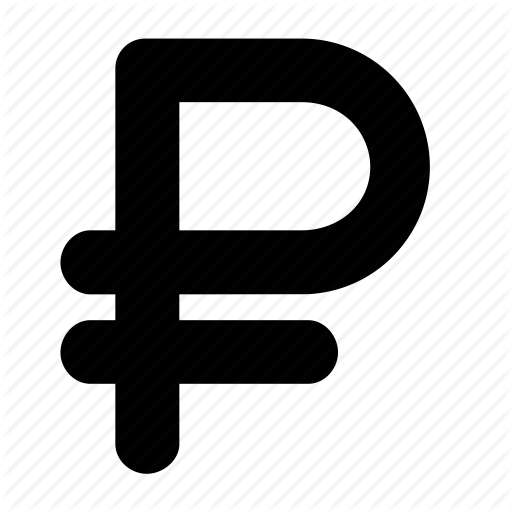 Russian ruble symbol icon