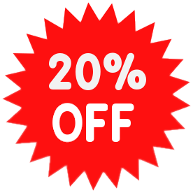 Sale, Promo, Percent, 20% Off Png image #37387
