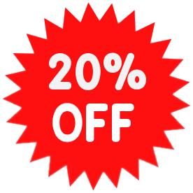 Sale, Promo, Percent, 20% Off Png image #37387