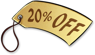 Sale Stickers PNG 20% OFF Label PNG image #37394