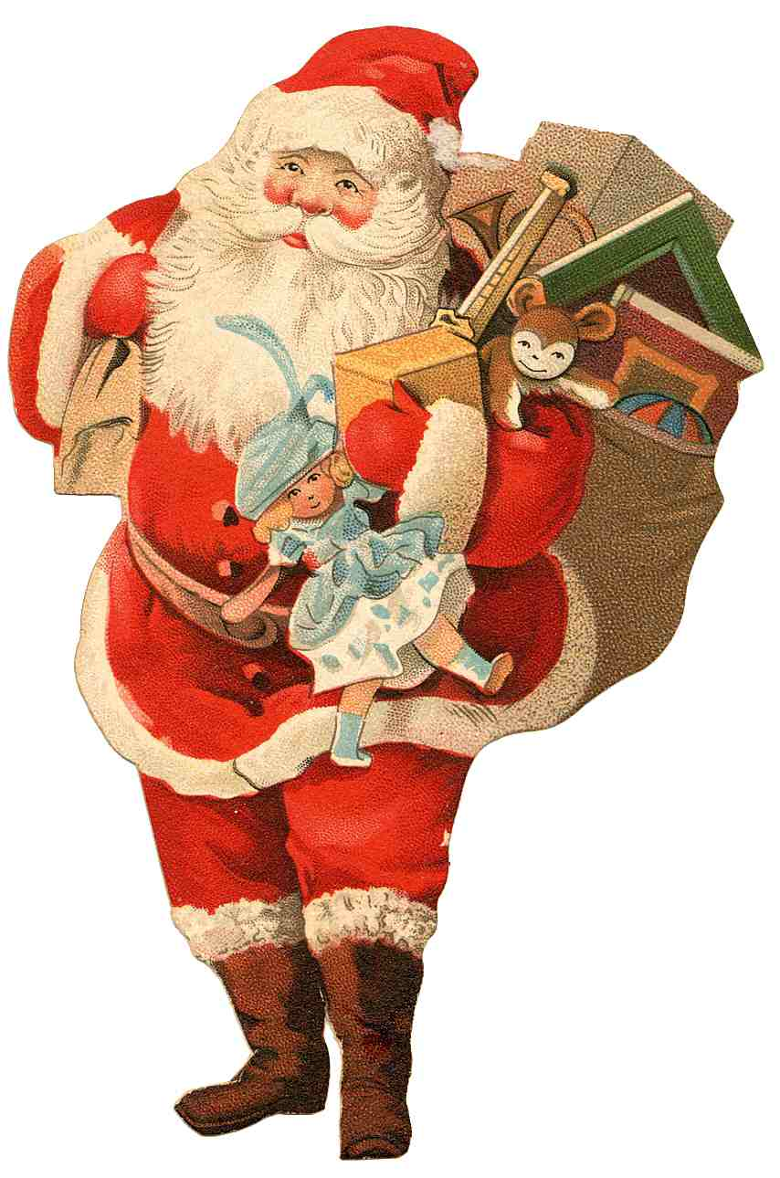 Transparent Santa Claus PNG image #34022