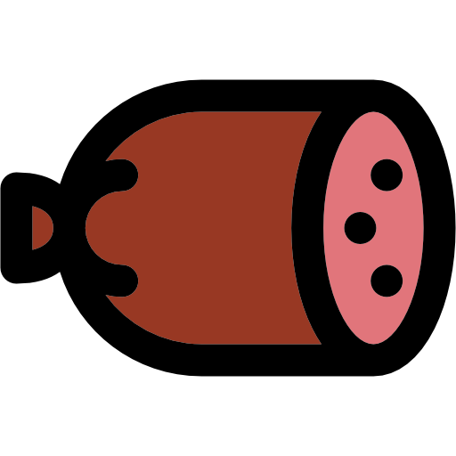 Drawing Vector Sausage image #16426