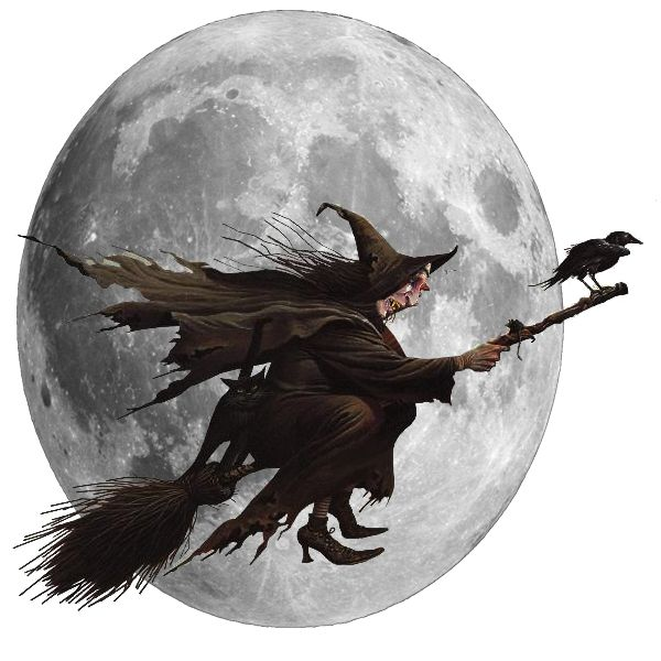 Scary, Halloween Witch Transparent Clipart