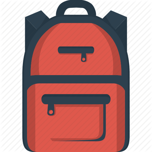 School Bag Drawing Vector