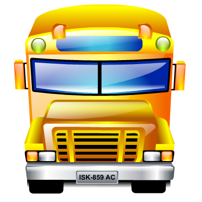 school bus transportation icon png