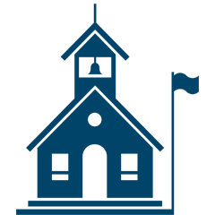 Hd School House Icon
