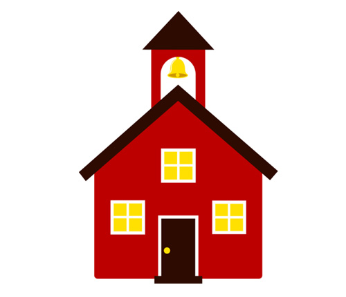 School House Image Icon Free