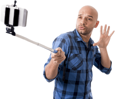Selfie Stick With Man Png image #35855