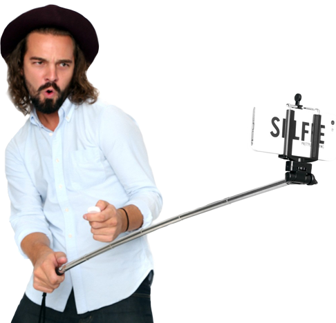Selfie Stick With Man Png image #35856
