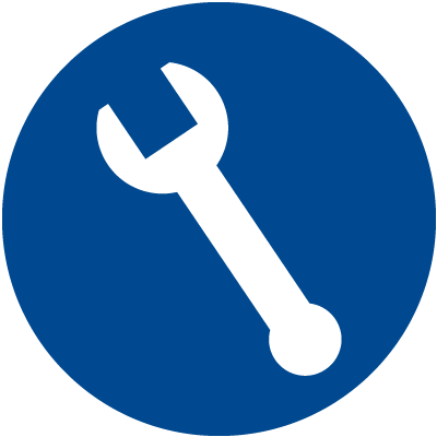 Service Icon Blue Circle image #2287