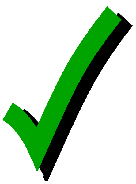 Shaded Checkmark Png image #25964