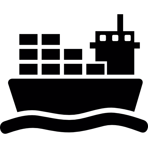 Ship With Cargo On Sea   Free Transport Icons image #337