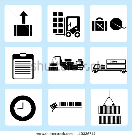 shipping icon set, logistic stock vector