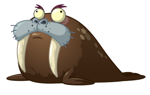 short, fat, big eyed Walrus photo