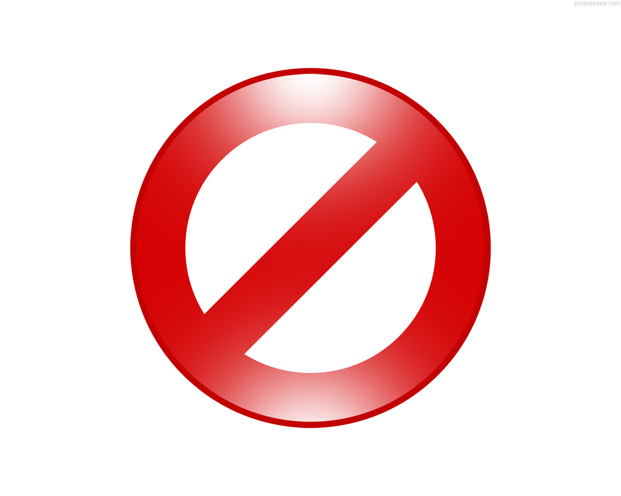 Sign Forbidden Icon Red image #10061
