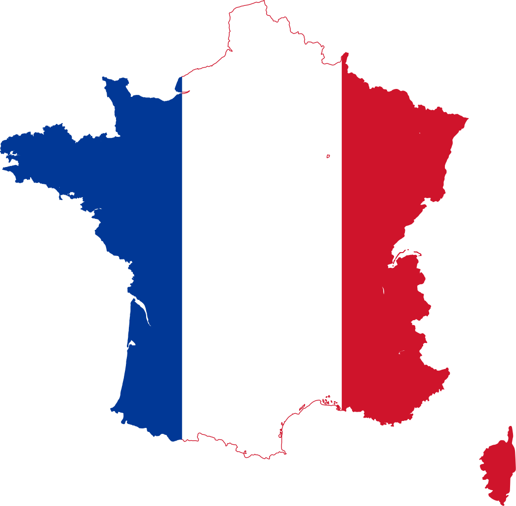 Silhouet France With Flag Png image #29331