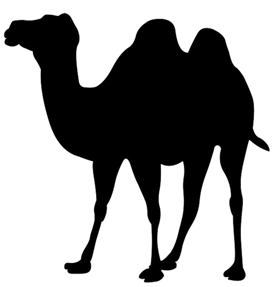 Silhouette Clip Art Of Camel image #1073