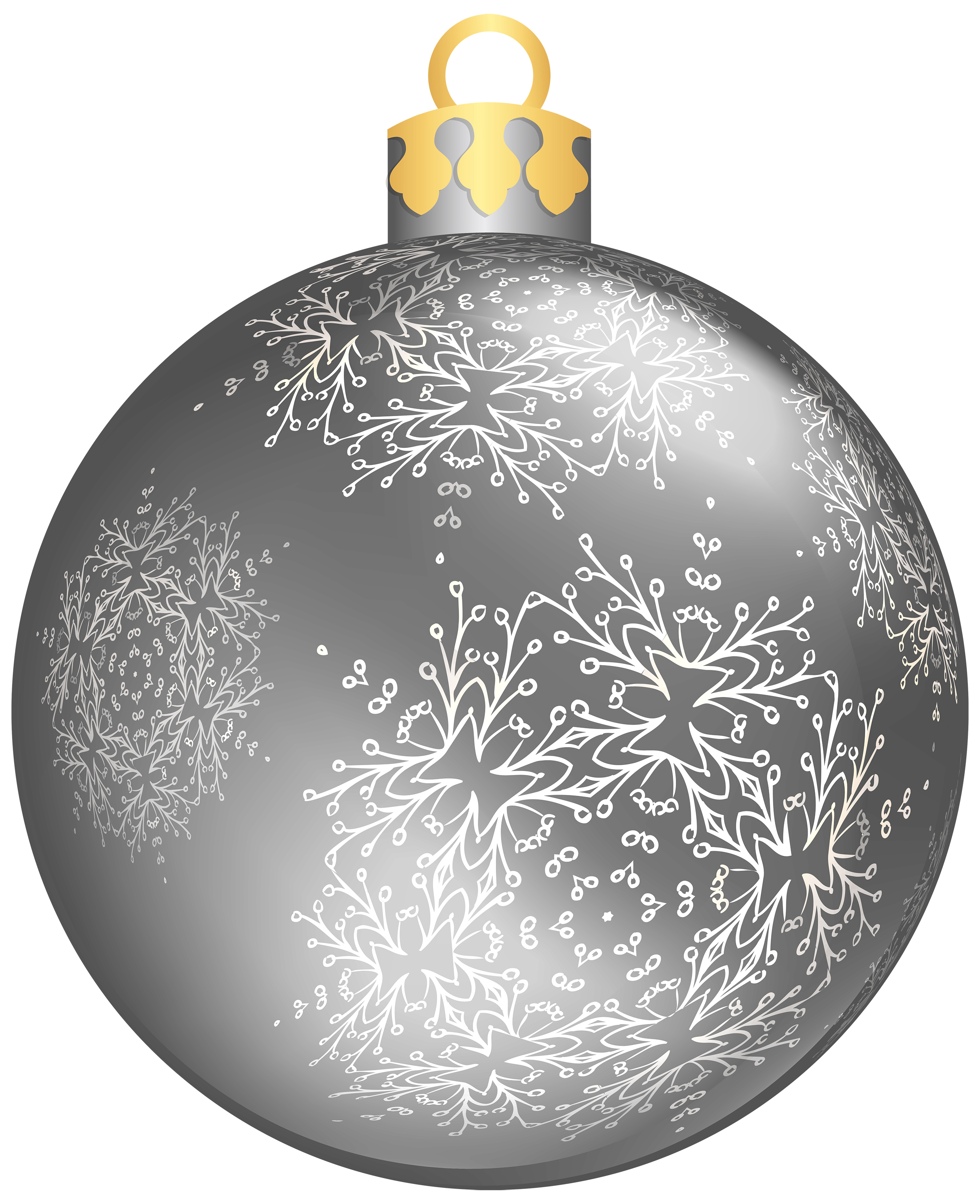 Silver Christmas Ball PNG Transparent Images