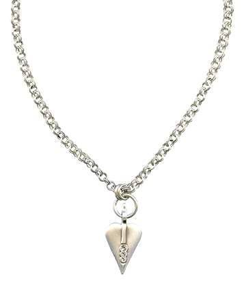 Silver Necklace For Women And Girls Png  image #45146