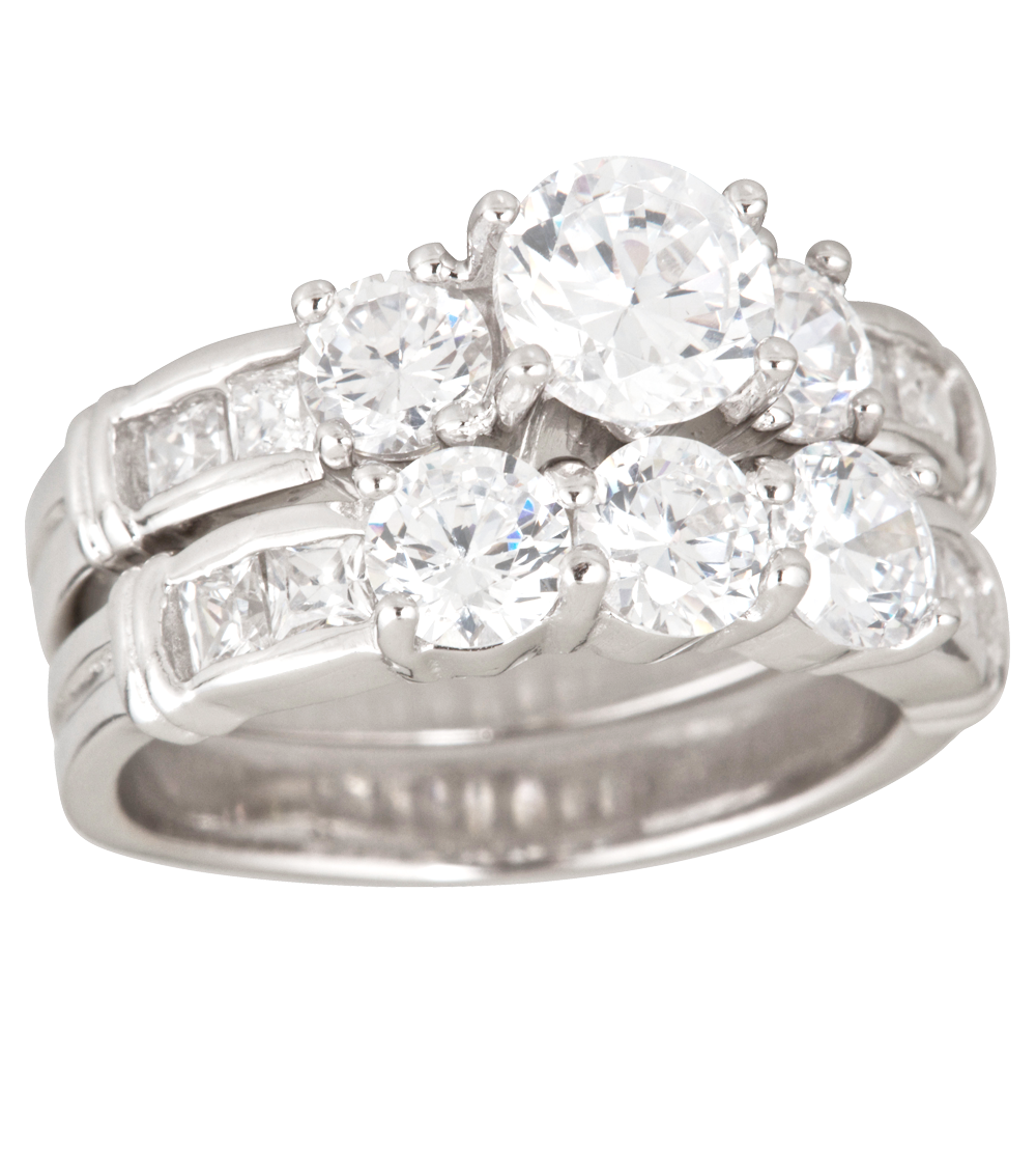 Silver Wedding Rings Png Photo