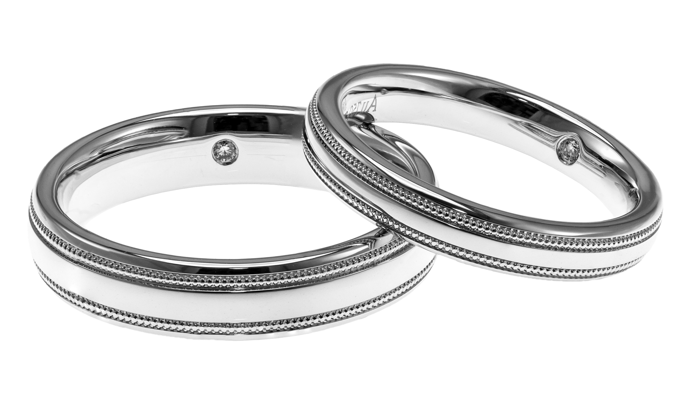 Silver Wedding Rings Png Pic