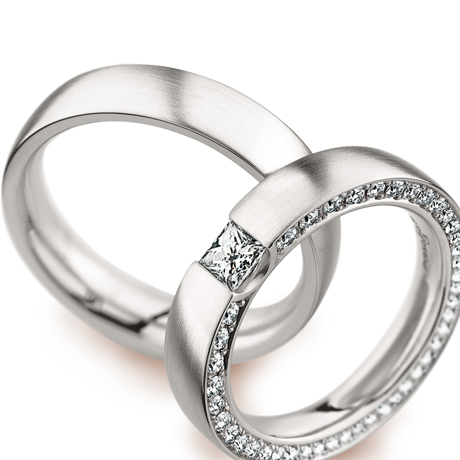 Silver Wedding Rings Transparent Background